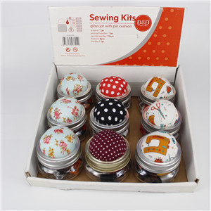 Sewing Short Glass Bottle 13704